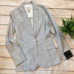 Banana Republic | NEW cotton striped blazer jacket